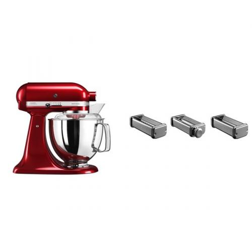 Set (Příslušenství k robotům KitchenAid KPRA) + (Kuchyňský robot KitchenAid Artisan 5KSM175PSECA)