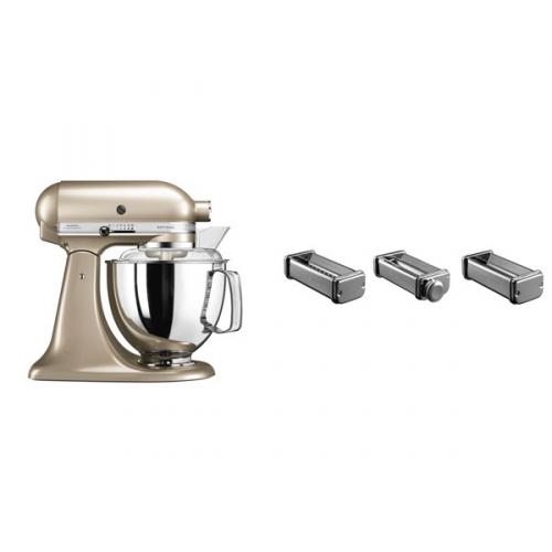 Set (Příslušenství k robotům KitchenAid KPRA) + (Kuchyňský robot KitchenAid Artisan 5KSM175PSECZ)