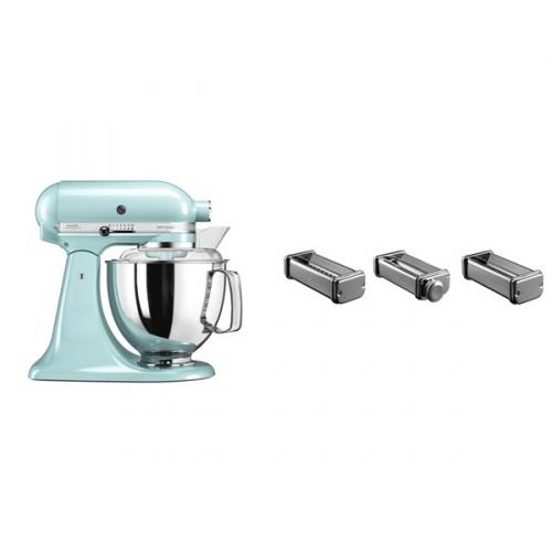 Set (Příslušenství k robotům KitchenAid KPRA) + (Kuchyňský robot KitchenAid Artisan 5KSM175PSEIC)