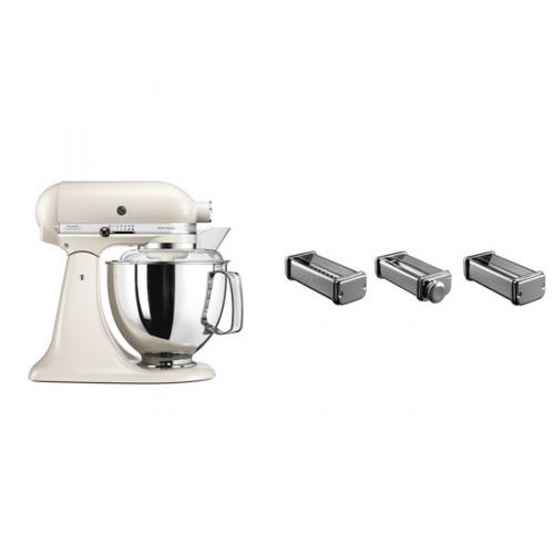 Set (Přísl. k robotům - nástavec na těstoviny KitchenAid 5KSMPRA) + (Kuchyňský robot KitchenAid Artisan 5KSM175PSELT)