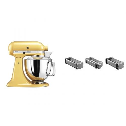 Set (Příslušenství k robotům KitchenAid KPRA) + (Kuchyňský robot KitchenAid Artisan 5KSM175PSEMY)