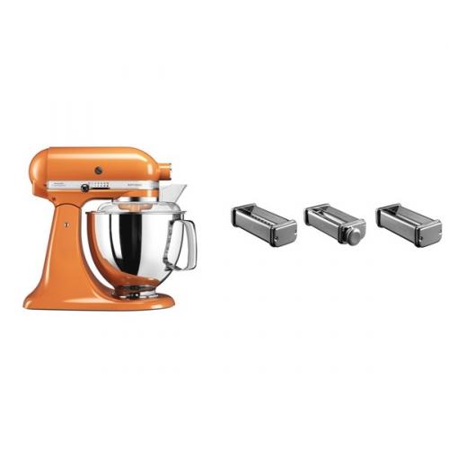 Set (Příslušenství k robotům KitchenAid KPRA) + (Kuchyňský robot KitchenAid Artisan 5KSM175PSETG)