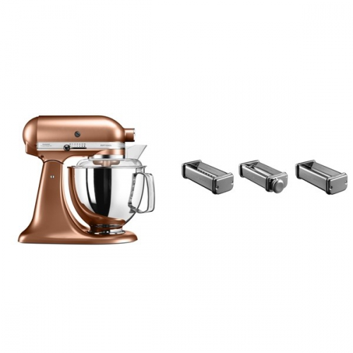 Set (Příslušenství k robotům KitchenAid KPRA) + (Kuchyňský robot KitchenAid Artisan 5KSM175PSECP)