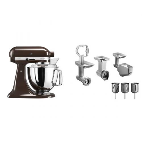 Set (Příslušenství k robotům KitchenAid 5FPPC) + (Kuchyňský robot KitchenAid Artisan 5KSM175PSEES)