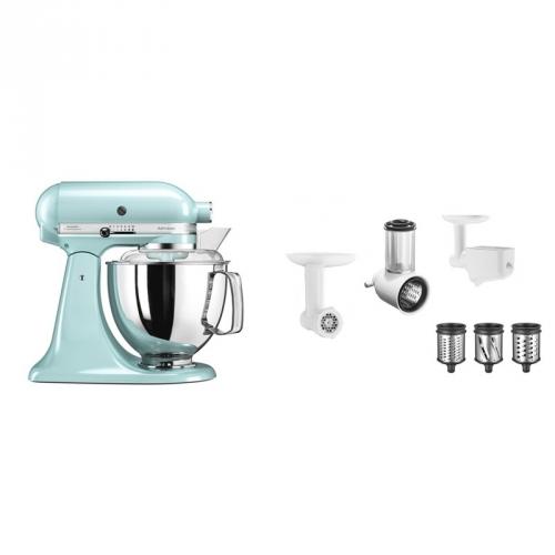 Set (Příslušenství k robotům KitchenAid FPPC) + (Kuchyňský robot KitchenAid Artisan 5KSM175PSEIC)