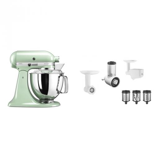 Set (Příslušenství k robotům KitchenAid 5KSMFPPC) + (Kuchyňský robot KitchenAid Artisan 5KSM175PSEPT)