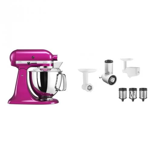 Set (Příslušenství k robotům KitchenAid 5FPPC) + (Kuchyňský robot KitchenAid Artisan 5KSM175PSERI)
