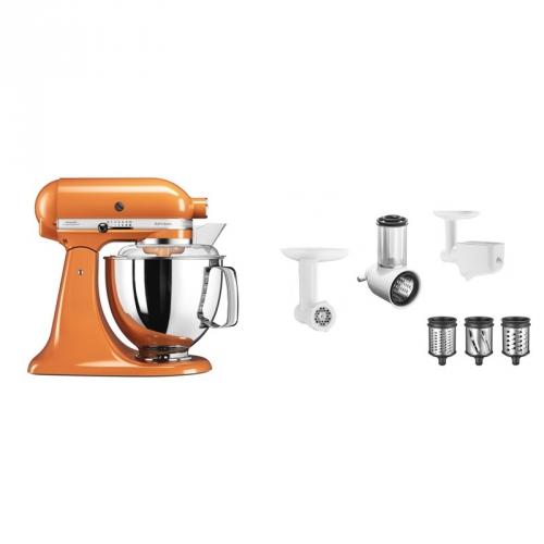 Set (Příslušenství k robotům KitchenAid 5FPPC) + (Kuchyňský robot KitchenAid Artisan 5KSM175PSETG)