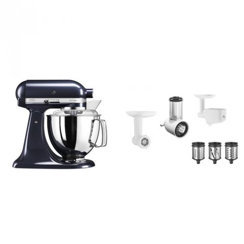 Set (Příslušenství k robotům KitchenAid 5FPPC) + (Kuchyňský robot KitchenAid Artisan 5KSM175PSEUB)