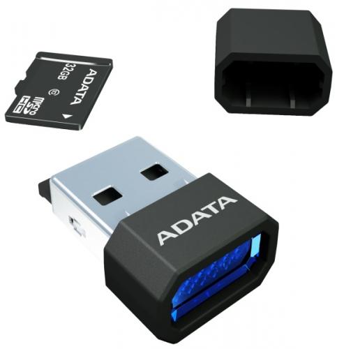 Čtečka paměťových karet ADATA MicroReader Ver.3, MicroSD, USB 2.0 černá