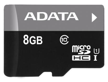 A-Data 8GB Class 10 UHS-U1 (50R/10W) + čtečka MicroReader Ver.3 černá