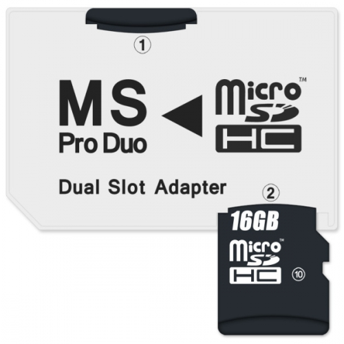 Connect IT CI-1138, MS Pro Duo - 2x MicroSDHC