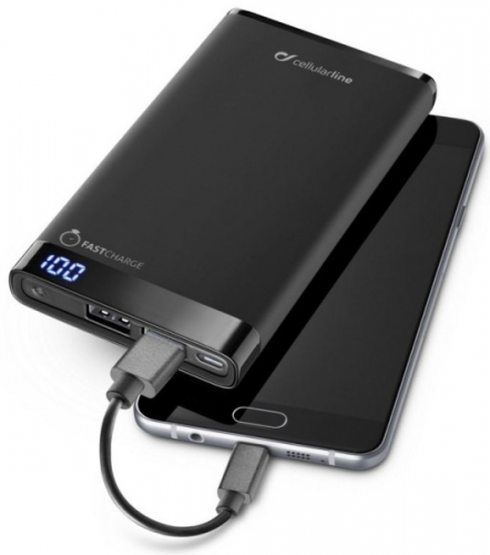 Fotografie CellularLine FreePower Manta 8000mAh černá (FREEPMANTA8000K)
