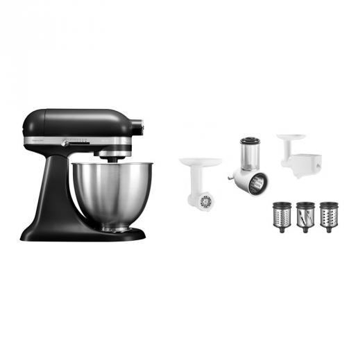 Set (Příslušenství k robotům KitchenAid 5KSMFPPC) + (Příslušenství k robotům KitchenAid 5FPPC) + (Kuchyňský robot KitchenAid Artisan MINI 5KSM3311XEBM)