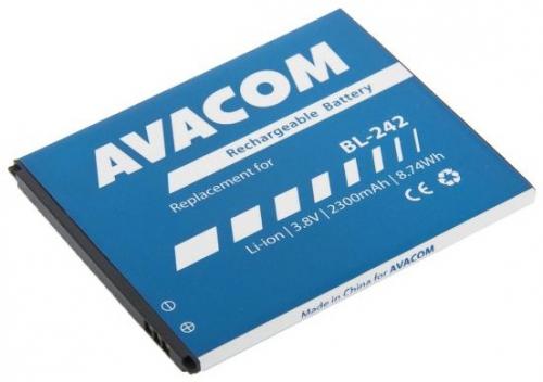 Baterie Avacom pro Lenovo A6000, Li-Ion 3,8V 2300mAh (náhrada BL242)