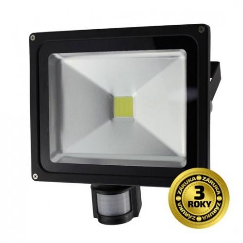 Solight 50W, studená bílá, 3500lm, se senzorem černý