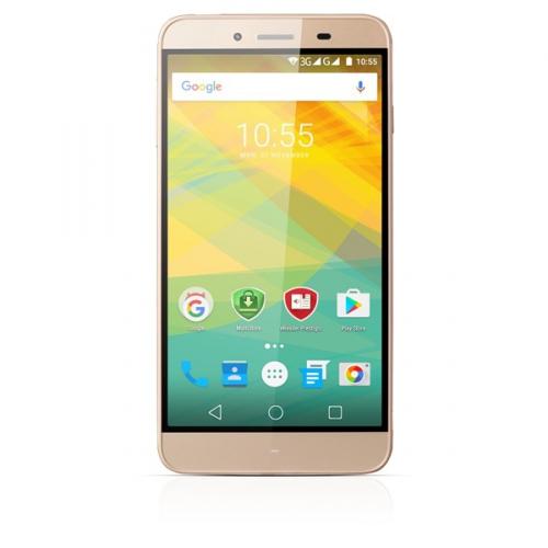Prestigio Grace Z3 Dual SIM zlatý + dárky