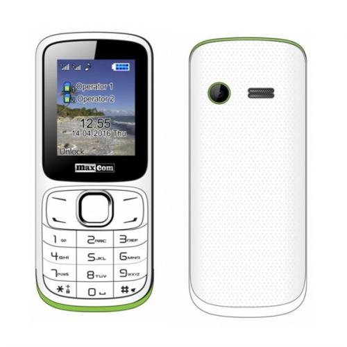 MaxCom Classic MM129 Dual SIM bílý/zelený