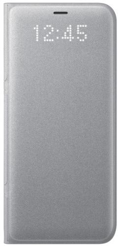 Pouzdro na mobil flipové Samsung LED View pro Galaxy S8+ stříbrné