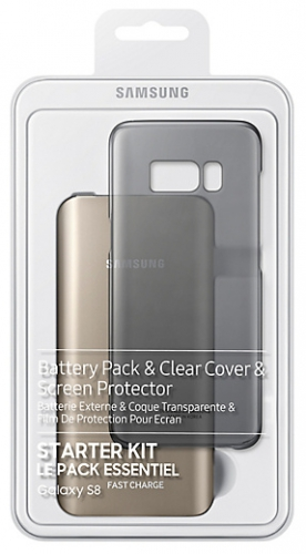 Samsung Clear Cover + Baterry Pack pro Galaxy S8