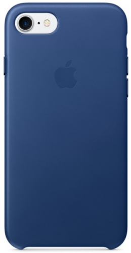 Apple Leather Case pro iPhone 7 - safírový