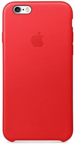 Apple Leather Case pro iPhone 6/6s (PRODUCT)RED™ červený