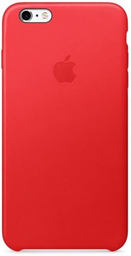 Apple Leather Case pro iPhone 6 Plus / 6s Plus (PRODUCT)RED™ červený