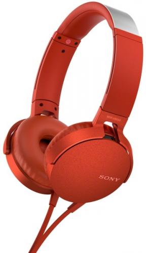 Sony MDR-XB550AP Extra Bass™ červená