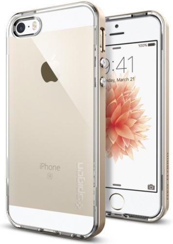 Spigen Neo Hybrid Crystal pro Apple iPhone 5/5s/SE zlatý