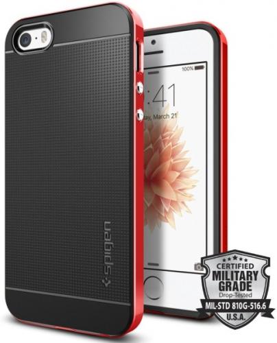 Spigen Neo Hybrid pro Apple iPhone 5/5s/SE - dante red