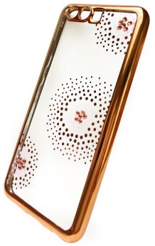Fotografie Beeyo Flower Dots pro Huawei P10 zlatý (BEAHUP10TPUFLGO)