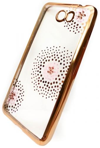 Beeyo Flower Dots pro Huawei Y6 II Compact zlatý