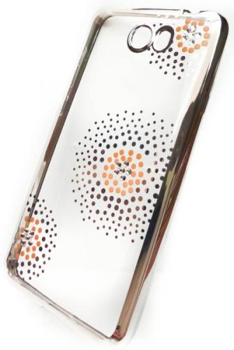 Beeyo Flower Dots pro Huawei Y6 II Compact stříbrný