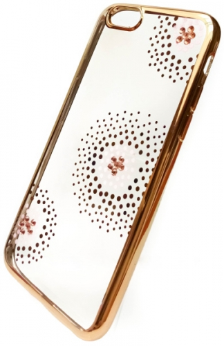 Fotografie Beeyo Flower Dots pro Apple iPhone 6/6s zlatý (BEAAPIP6TPUFLGO)