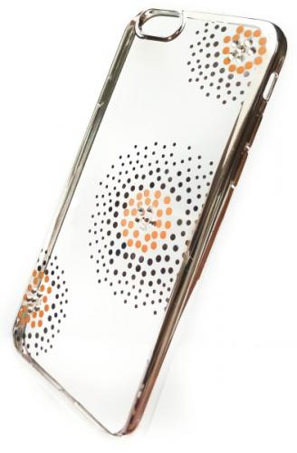 Beeyo Flower Dots pro Apple iPhone 6/6s stříbrný