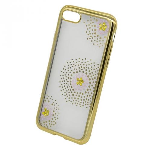 Fotografie Beeyo Flower Dots pro Apple iPhone 8/7 zlatý (BEAAPIP7TPUFLGO)