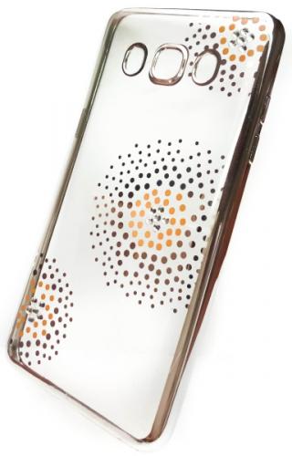 Beeyo Flower Dots pro Samsung Galaxy J5 (2016) stříbrný (BEASAGAJ52016TPUFLSI)