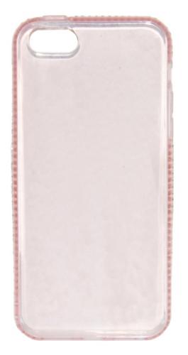 Beeyo Diamond Frame pro Apple iPhone 5/5s/SE růžový (BEAAPIP5TPUFRPI)