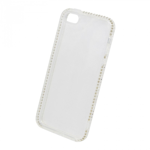 Beeyo Diamond Frame pro Apple iPhone 5/5s/SE bílý (BEAAPIP5TPUFRWH)