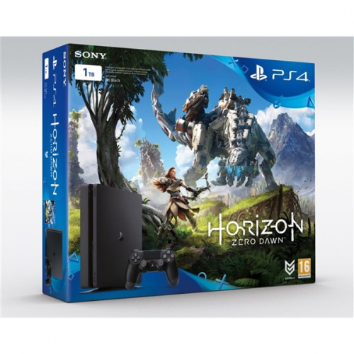 Sony PlayStation 4 SLIM 1TB + Horizon Zero Dawn černá