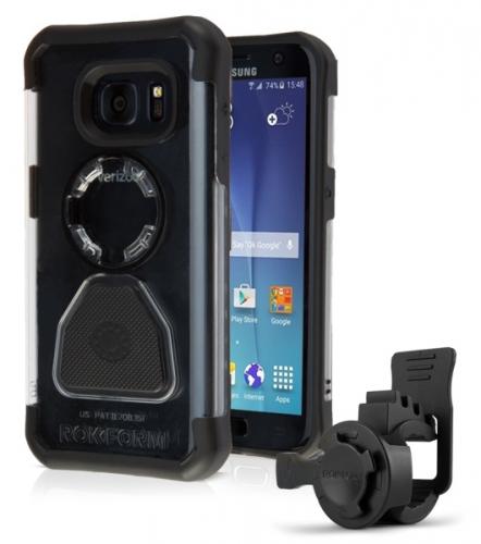 Rokform na kolo pro Samsung Galaxy S7 Edge + pouzdro černý