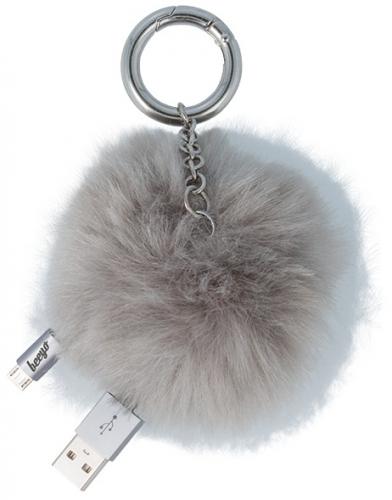 Beeyo MicroUSB, 4 cm, koule šedý