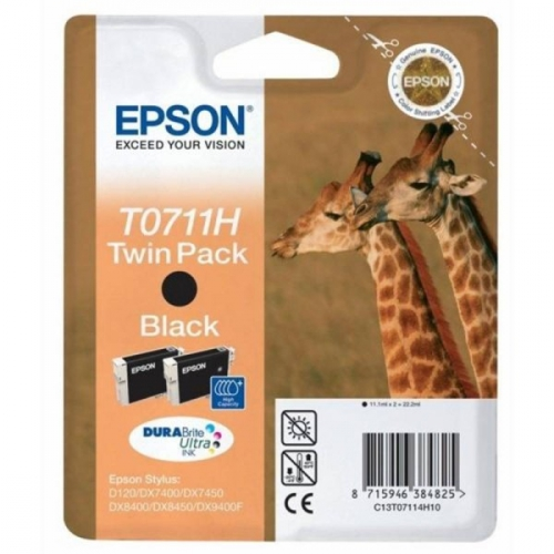 Epson T0711, 2x 11ml - originální černá