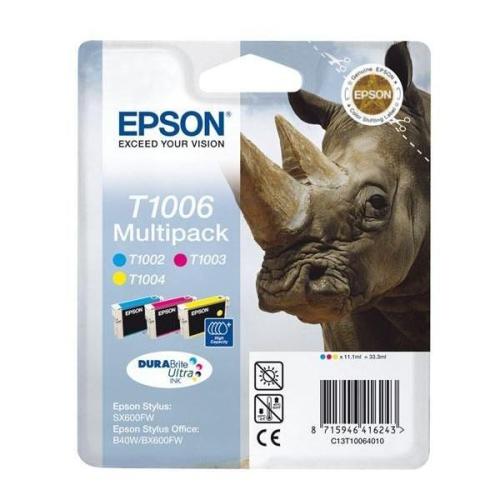 Epson T1006, 3x 11ml modrá/žlutá/růžová
