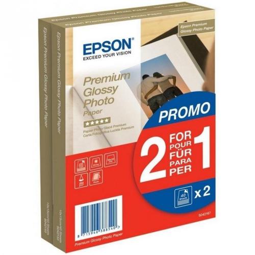 Epson Premium Glossy Photo 10x15, 225g, 80 listů bílý