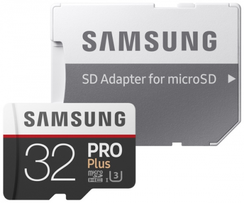 Samsung 32GB UHS-I U3 (100R/90W) + adapter