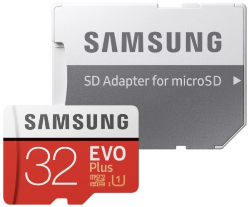 Samsung 32GB UHS-I U1 (95R/20W) + adapter