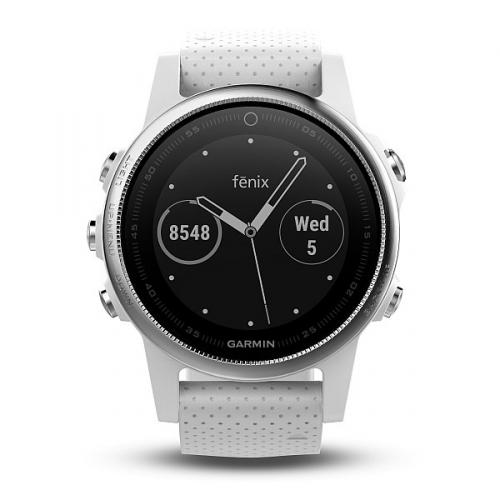 GPS hodinky Garmin Fenix 5S stříbrné/bílé + DOPRAVA ZDARMA