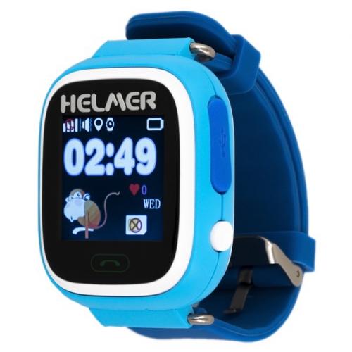 Fotografie HELMER GPS lokátor LK 703 umístěný v chytrých dětských hodinkách s dotykovým dis