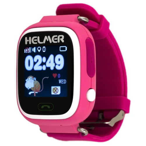 Fotografie HELMER Chytré dotykové hodinky s GPS lokátorem LK 703 růžové